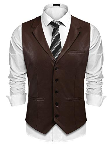 Brown or Black Leather Jacket Mens