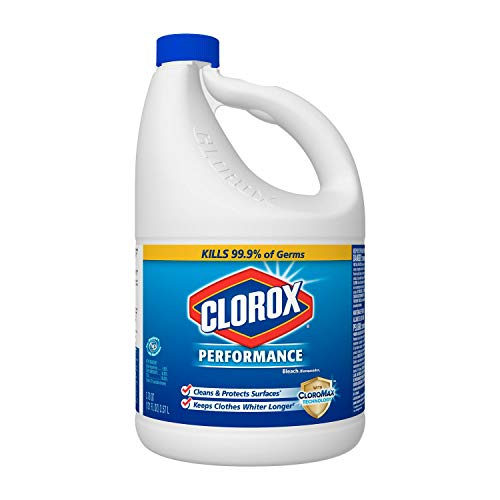 Clorox 764442854668 Liquid Bleach-121-Oz. Bottle-Case of 3, Original Version, 343 Ounce