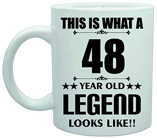 11039 Dit is Wat een 48 Jaar Oude Legende Lijkt Verjaardag Plezier Grap Koffie Theekop Keramische Vaatwasser safemug