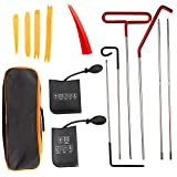 USTAR Car Tool Kit 13PACK - Emergency Car Drive Out Sets, Professional Car Kits for Vehicles with Easy Entry Long Reach Grabber, Air Wedge, Non Marring Wedge and PVC Bag for Cars Truck