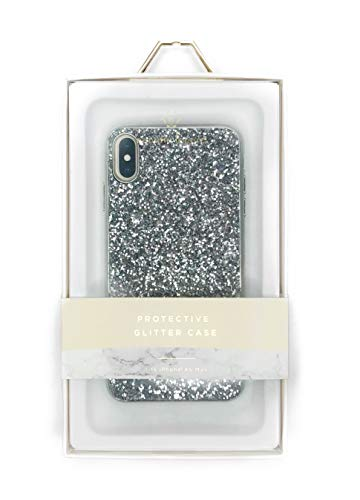 Nanette Lepore - Protective Case for Apple iPhone Xs Max - Silver Glitter