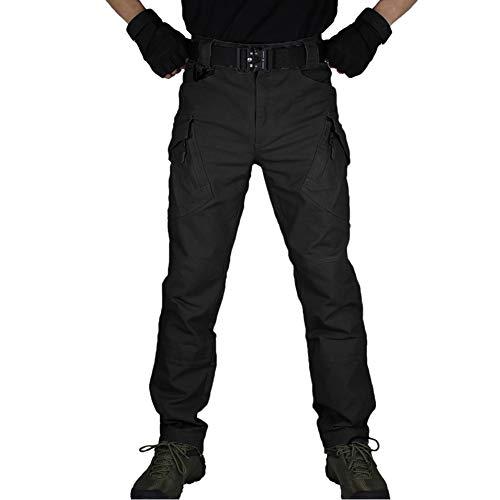 zuoxiangru Pantalones Militares de Combate táctico para Hombres, Pantalones Casuales de Carga de Trabajo al Aire Libre (Negro, Tag XL)