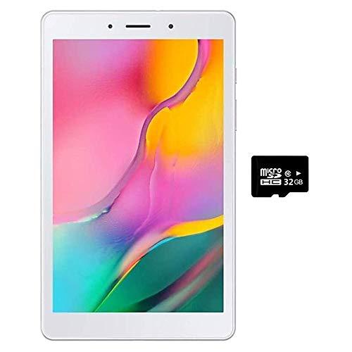 Samsung Galaxy Tab A 8.0' (2019, WiFi Only) 32GB, 5100mAh All Day Battery, Dual Speaker, SM-T290, International Model (32GB + 32GB SD Bundle, Silver)