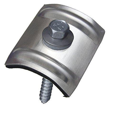 200 Kalotten Sinus blank Aluminium 24° Profil 76/18 Wellplatten + Fassadenbauschrauben 6,5x64