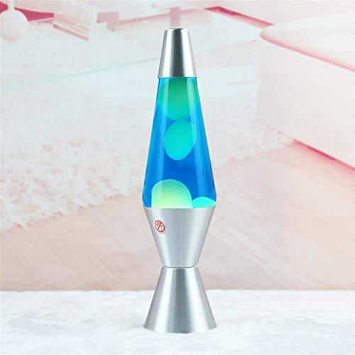 Lavalampen Lava-Lampe Vulkan-Verjüngte Flasche Wachslampe Wasseraufkleber Home Kreatives Licht Nachtlicht (Size : Blue Water Green Wax)