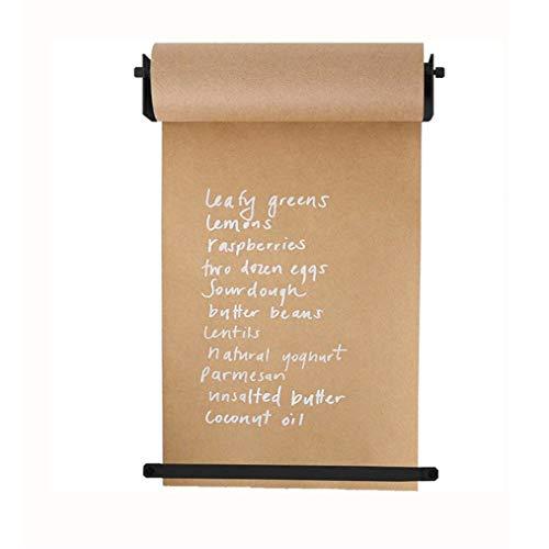 INS Studio Muur Roll Kraft Papier, Koffie Shop Signbord Koeienhuid Papier, Kinderen Muur Schilderij Papier, Creatieve Home Wall Decoratie, 1 Dispenser, 1 Roller Kraft Papier, 1 Horizontale Vaste Strip 18.7In