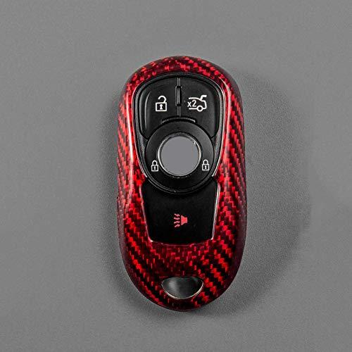 SENDIAYR Carcasa de Fibra de Carbono para Llave, Accesorios para Coche, Carcasa para Llave de Coche, para Buick Excelle Regal Gl6 Verano Encore LA Crosse Envision