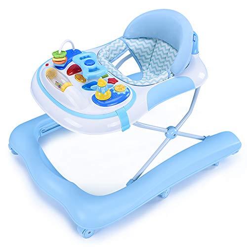 MGLQSB Baby Girello Safety Girello per Bambini Girello Bamnino Fascia d\'età: da 6 a 18 Mesi,Blue