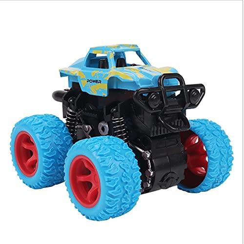 Mini Monster Durable Monster Pull Back Racer Trucks Aleación de automóviles 4 ruedas Drive Drive STRIGHT RESISTENTE OFF-ROAD 360 ° Rotating Stunt Educational Navidad para Hobby 6 años Antiguos adolesc
