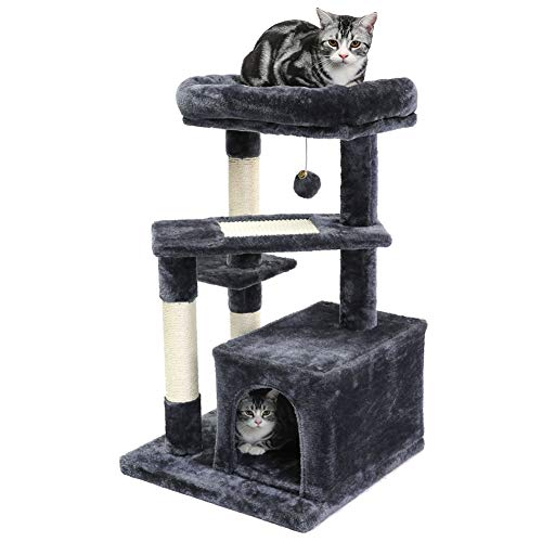 SUPERJARE 32-INCH CAT TREEs for a declawed cat