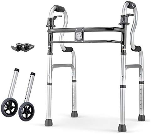 Folding Walker Elderly Disabled Indianapolis Mall Height Adjustabl Max 82% OFF Alloy Aluminum
