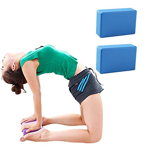 Lumanby Ladrillo de yoga de alta densidad bloque de yoga ligero versátil ladrillo de yoga respetuoso con el medio ambiente ladrillo engrosado 7,4 x 15 x 22,8 cm
