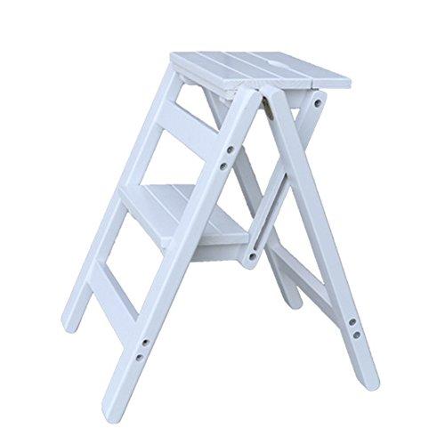 ZhuFengshop Houten klapkruk, multifunctioneel, voor klimmen, barkruk, inklapbaar, keuken, bibliotheek