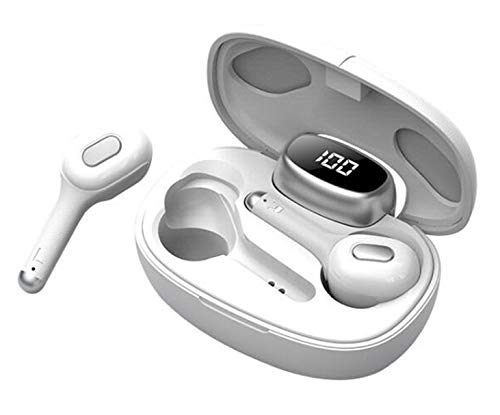 Language Translator Device - Supports 19 Languages, Real Time Voice Translator Earbuds, Wireless Bluetooth 5.0 Translation Earphones with Charging Case, Suitable for iOS & Android (White)