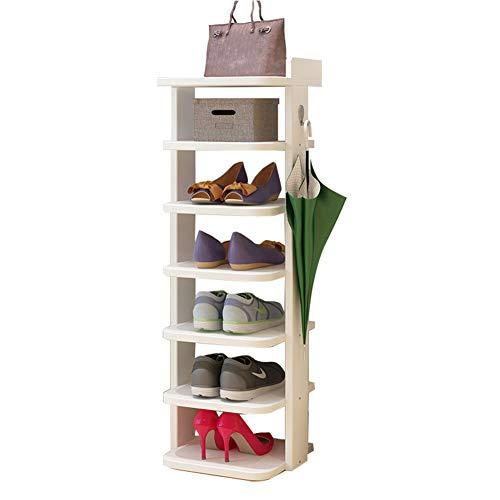 Organizador De Zapatos Grande De Madera Maciza Estantería Modular para Ahorro De Espacio, Estantería para Zapatos, Botas, Pantuflas