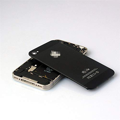 iDigital - Tapa Trasera para iPhone 4 (Cristal), Color Negro Incluye Torx. (no...