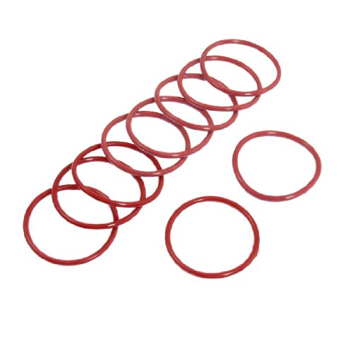 Preisvergleich Produktbild 10 Stück Red Rubber 31 mm x 2 mm Oil Seal O-Ringe Dichtungen Unterlegscheiben