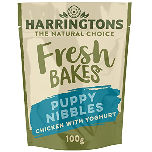 Harringtons Fresh Bakes Chicken with Yogurt Puppy Nibbles 100g, Pack of 9