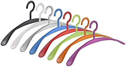 Kleiderbügel Garderobenbügel Wing 8 Farben schwarz, weiß, Silber, blau, rot, grün, orange und violett