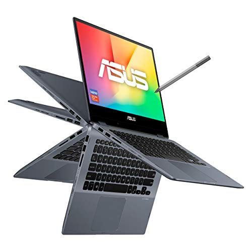 Asus Laptop VivoBook Flip 14', Core i5 10th, 12GB RAM, 512 SSD, Touch, Gris