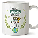 Tazza per insegnante con scritta 'Best Teacher in the World', in ceramica, 325 ml, biologo