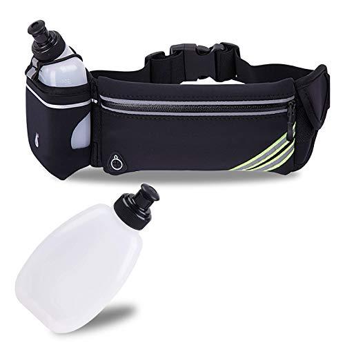 Waterproof Running Belt Water Bottle Waist Pack,Sport Fanny Pack Running Pouch for Men Women Runners Mens Waist Bag,Phone Holder for iPhone 11 Pro Max Xs Xr X 8 7 6 Plus in Hybration,Workout,Jogging