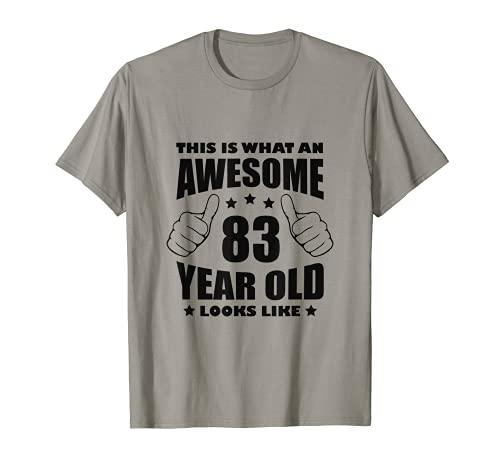 83° Compleanno Regali fantastici per la nonna di 83 anni Maglietta