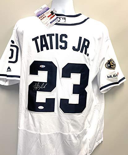 Fernando Tatis Jr San Diego Padres Signed Autograph Majestic Jersey White JSA Certified