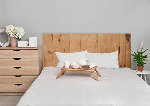 Deco&Fun - Cabecero Cama Madera Impreso Wood Line Natural 115x60cm para Cama de 105 - Medidas 100, 115, 150, 200 -Cabecero Original