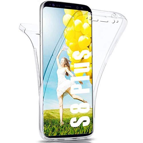 CaseNN Cover Compatibile con Samsung Galaxy S8 Plus Custodia 360 Gradi Antiurto Silicone Gel TPU e PC Full Body Protettiva Protezione Ai Graffi Case Bumper Trasparente HD Chiaro Sottile Crystal Clear