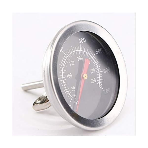 Termómetro para barbacoa de estilo artístico, 2 pulgadas de diámetro. Indicador de temperatura de acero inoxidable…