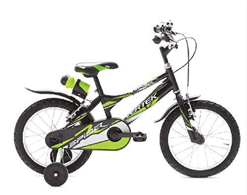 BRERA VERTEK Bicicletta Bambino Bimbo Spider Ruote 14 Verde/Nera 1 velocità