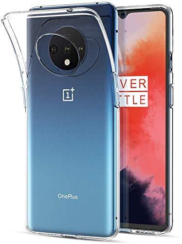 NUPO Hülle für OnePlus 7T, Transparent TPU Silikon Handyhülle Crystal Durchsichtige Schutzhülle Case für OnePlus 7T