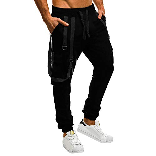 Celucke Herren Cargohose Arbeitshose Jogginghose mit Seitentaschen,Männer Skinny Bequem Sweatpants Herbst Winter Mode Freizeithosen