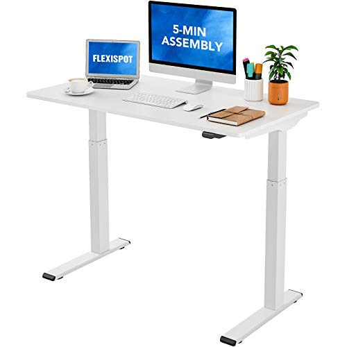 Flexispot Quick Install Standing Desk EC9 Electric Height Adjustable Desk 48 x 24 Inches Whole-Piece...