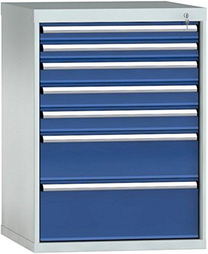 Metall-Meister  Schubladenschrank 1000x725x750 HxBxT mit 7 Auszügen Vollauszug 100%