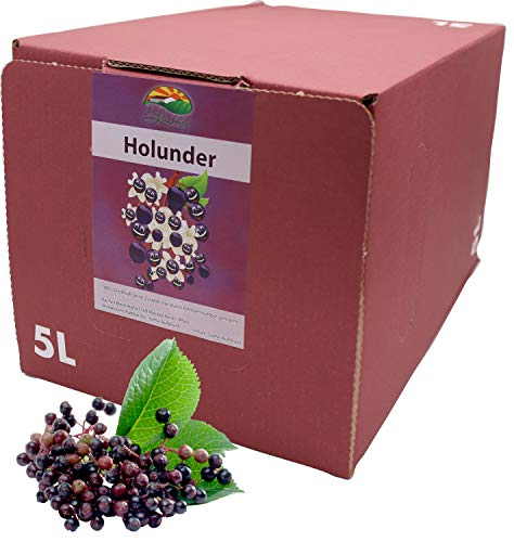 Bleichhof Holundersaft - 100% Direktsaft, vegan, OHNE Zuckerzusatz, Bag-in-Box mit Zapfsystem (1x 5l Saftbox)