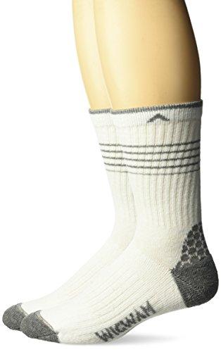 Wigwam Men's Brawn INgenius Lightweight Work Socks 2-Pack, white, Large