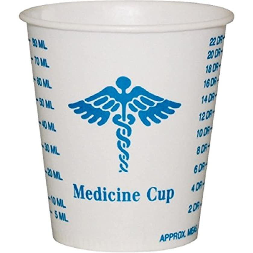 Solo Foodservice R3-43107 Medicine Design Wax Coated Paper Graduated Cup 3 oz., 100 Count