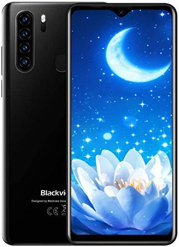 Blackview A80 Pro (2020) 4G Smartphone ohne Vertrag Günstig 6,49 Zoll Android 9.0 4GB RAM + 64GB ROM, 128GB erweiterbar 4680mAh Akku 13MP+8MP Dual Kamera Dual SIM Handy - Fingerabdrucksensor Schwarz