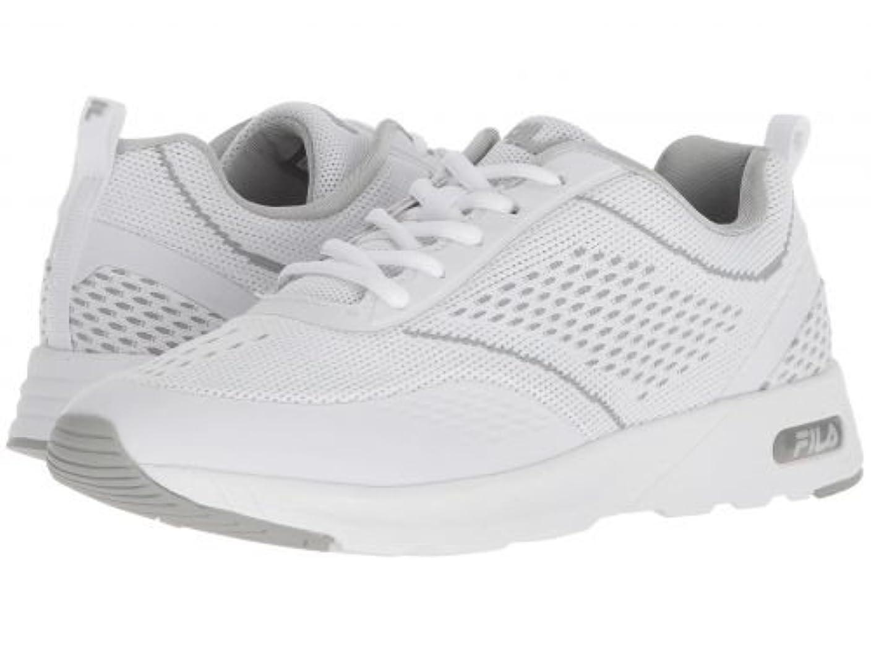 衝突コース住人鼓舞するFila(フィラ) レディース 女性用 シューズ 靴 スニーカー 運動靴 Memory Chelsea Knit Running - White/White/High-Rise [並行輸入品]