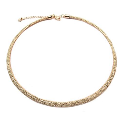 Les Trésors De Lily P7644 - Halskette creator 'Sissi' weiß goldrosa - 42 cm 5 mm.