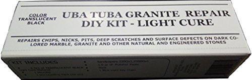 UBA TUBA Granite & Dark Colored Stone Repair Diy Kit Light Cure 2.0 grams