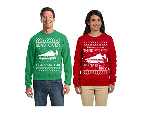 Wild Bobby Tree That Big Bend Over | Christmas Vacation Couples Matching Ugly Christmas Sweater