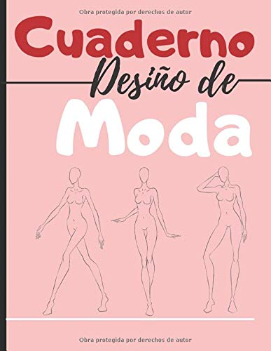 Cuaderno desiño de moda: 250 Figuras plantilla de maniquíes para dibujar ropa para diseñadores de moda y estilistas I 130 páginas - 8,5 * 11 en I