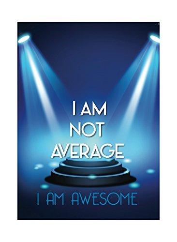 Aluminium en métal I Am not moyenne Imprimé I Am Awesome spot Tableau Inspiration Citation de motivation Sign