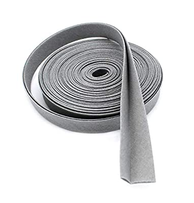 "Double-fold Bias Tape 1/2"" Wide ~ Poly Cotton (5 Yards, Grey)"