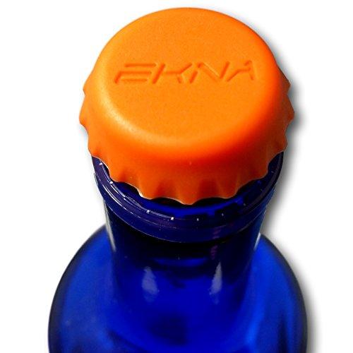 EKNA 12 Stück Wiederverwendbare Kronkorken aus Silikon in bunten Farben zum Schutz vor Tieren, Kohlesäureverlust - Beer Savers