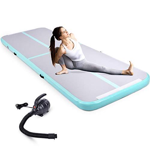 Aufblasbare Turnmatte für Kinder Erwachsene für zuhause, Air Track Tumbling Mat Dicke Trainingsmatte mit elektrischer Luftpumpe für Cheerleading Yoga Gym Fitness Training Übungsgymnastik 1 x 3 x 0,2 m