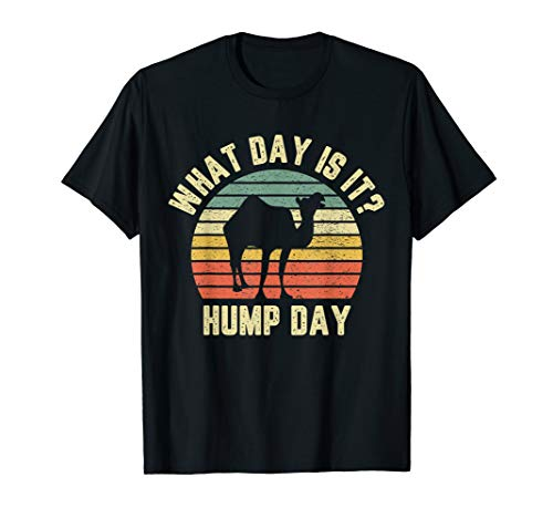 What Day Is It Camel Tshirt Retro Funny Hump Day T-Shirt